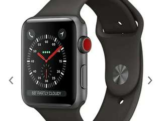 Apple watch 38mm and 42 Mm sapce grey series. 3 Suppurb mint condition