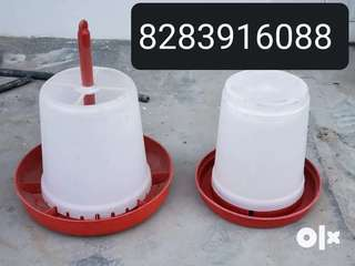 Hanging feeder and drinker for poultry farm