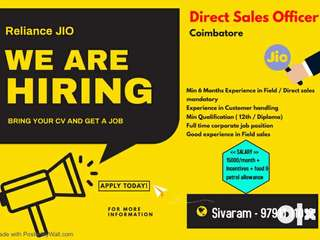 Wanted - Direct sales officers