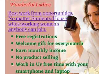 Good news for ladies,housewifes,studens