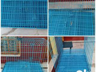 Foldable Cage for Pets Dogs/Cats/Birds with tray