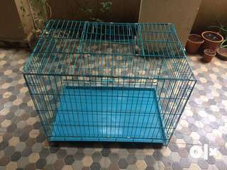 Foldable, double door Pet Cage/Crate 3ft
