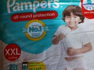 Pampers diapers XXL -28 Pants - its sealed