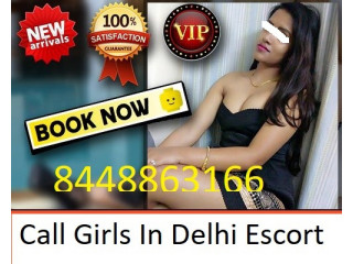 Call Girls In Green Park, +91-8448863166 ~Low Escort Service
